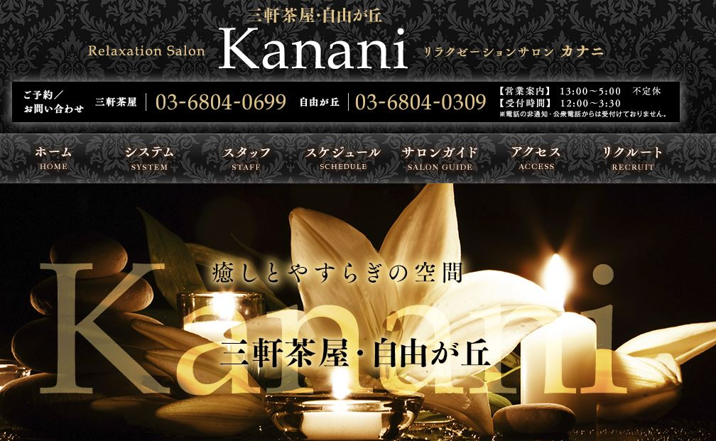 三軒茶屋・自由が丘のメンズエステ店のKanani(カナニ)の写真